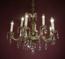 9 LIGHT NICKEL CRYSTAL FRENCH CHANDELIER LAMP HOME DECOR HALL ENTRYWAY