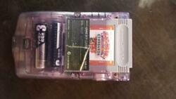 Nintendo Game Boy Color Skeleton Purple Used With Game Soft Made In Japan 293/mn