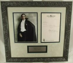 Bela Lugosi Dracula Actor Horror Films 1930and039s Autograph Display Authentic Jsa
