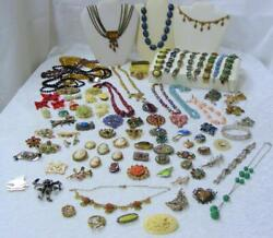 JEWELRY LIQUIDATION! VICTORIAN DECO VINTAGE CZECH LOT 107 PIECES MUST SEE!