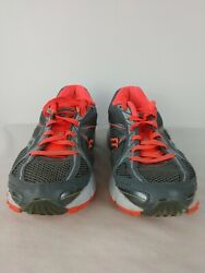 Saucony Womens Size 9 Ignition 4 Running Shoes Gray Orange Pink