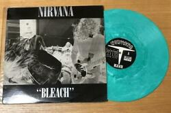91  Nirvana bleach green vinyl as good as new  new old real limited LP   Ship