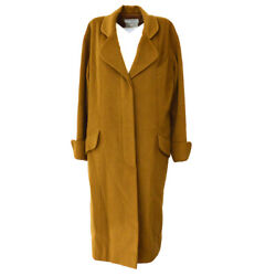 017 36 Cc Button Single Breasted Long Sleeve Coat Jacket Brown 03799