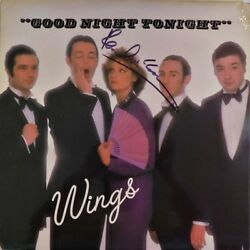 Paul McCartney Signed Autographed WINGS Good Night Tonight  Record Perry Cox LOA