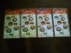 4 Wilton Spiders And Webs Candy Molds Halloween 2001 New In Package Lot