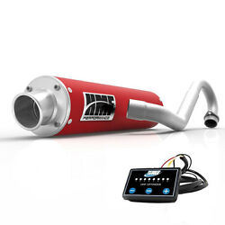 Hmf Performance Full System Exhaust Red + Efi Optimizer Controller Rubicon 500