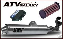 Hmf Full Exhaust Pipe, Dynatek Cdi, Kn Kandn Air Filter Yamaha Grizzly 660 02-08