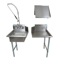 Bk Resources Bkdtk-26-r-g 26 Stainless Steel Dish Table Clean Room Kit