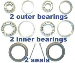 4 Front Wheel Bearings And 2 Seals Chrysler Full Size Car 1963 - 1972