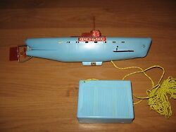 Look Vintage Collectable Electric Submarine Boat Model Toy 1950s-1970s