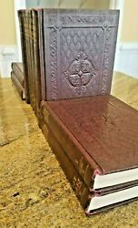 Rich Tooled Leather Bound The American Educator Encyclopedia 1960 Set All