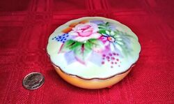Antique Lefton China Trinket Dish Numbered 5206 Hand Painted, Gold Trim