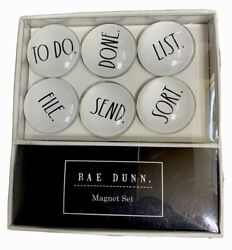 Rae Dunn Refrigerator Magnet Set 6 Glass Dome To Do Done List File Send Sort