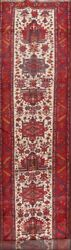Geometric Vegetable Dye 18 ft Long Runner Heriz Serapi Area Rug Hall-Way 4'x18'