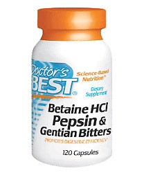 Doctorand039s Best Betaine Hcl Pepsin Gentian Bitters 120 Cap Free Worldwide Shipping
