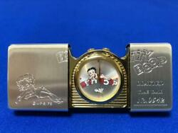 Zippo Limited Edition Clock Time Tank Betty Boop 1996 Made In Usa Unused Rare