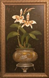 Canvas Oil Painting Andlsquoorchid Iandrsquo Om263016a The Raschella Collection 37x57