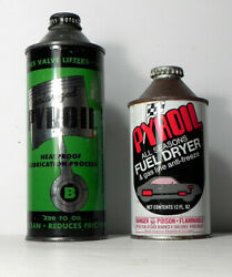 Pyroil Co La Crosse Wi Pair Of Vintage Car Care Gas Station Cans Tins Motor Oil