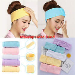 Salon SPA Beauty Yoga Adjustable Toweling Hair Wrap Makeup Head Band Hairband