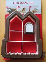 New 3d Mini Gingerbread House Cookie Cutter Sweet Creations Good Cook Christmas