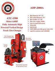 4.0 Hp Truck Tire Changer Fully Automatic 1442 W/truck Wheel Balancer Combo