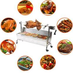 Samger 15w/25w Pig Spit Roaster Rotisserie Lamb Roast Bbq Grill Portable Outdoor