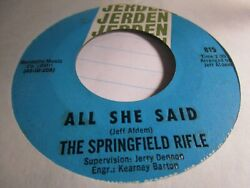 Springfield Rifle That's All I Really Need / I Love Her 45 Vg+ 2nd Press Zu26