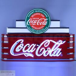 Coca Cola Theater Marquee Art Deco Neon Sign 39 Wall Window Steel Can Back New