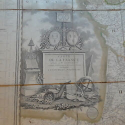 1791 True Antique Wall Map French Revolution Paris 46 X 63 32 Pages France