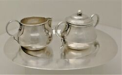 William Spratling Sterling Silver Sugar And Creamer With Serving Tray
