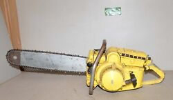 Vintage Rare Mcculloch 1-41 Chainsaw Big Logging Tool Collectible Saw Lot X1