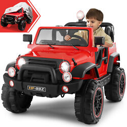 Xmas Gift Kids Truck Ride On Car 12v Electric Remote Control W/waterproof Cover