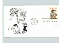 American Red Cross 1981 First Day Of Issue Jim Riggs Cartoon Cachet