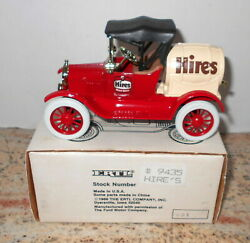 Hires Root Beer Soda 1918 Ford Barrel Truck 1991 Diecast Ertl Bank 9435