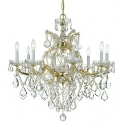 Crystorama Maria Theresa 9 Light Spectra Chandelier, Gold - 4409-gd-cl-saq