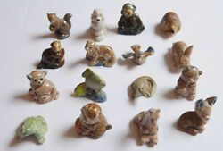 1960-70 Wade's Animal Figures Lot Of 16 Different Red Rose Tea Canada