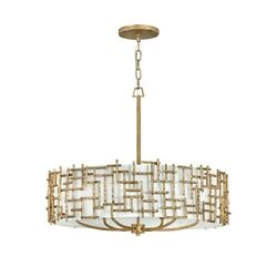 Fredrick Ramond Lighting Farrah 6 Light Interior Hanging In Burnished Gold - Fr