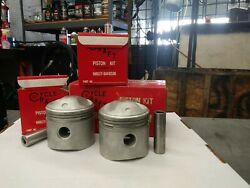 Nos 74 Harley Davidson Pistons .030 By Cycle Craft 33-74-36 15913