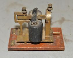 Antique Wutel Western Union Telephone Co Telegraph Sounder Nyrs Railroad Tool