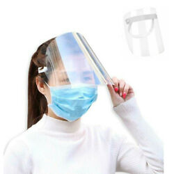 Transparent Adjustable Full Face Shield Plastic Anti-Saliva Protective Mask