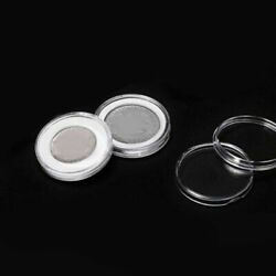 40pcs 46mm Transparent Plastic Coin Holder Coin Collecting Box Case For Storage