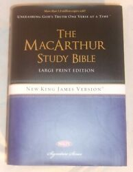 The Macarthur Study Bible Large Print Nkjv Edition Hard Cover Book Brand New