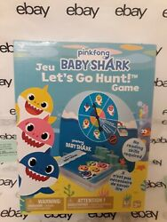 Baby Shark Letandrsquos Go Hunt Game Card Game With Spinner Pinkfong New In Box