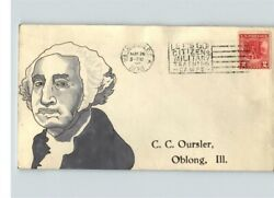 Valley Forge, 1928 Hand Painted Pic George Washington, 645 1 Of 1, Fdc