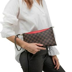 Luxury Checkered Crossbody Bag for Women Wristlet Clutch Leather Shoulder Strap $34.99