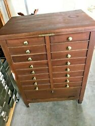 Antique Mahogany National Cash Register Stand Base Brass Name Tag 1181