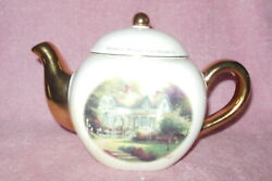 Telaflora Thomas Kinkade 'home Is Where The Heart Is' Collector Teapot Mint