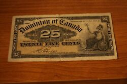 1900 25 Cents Dominion Of Canada - Bank Note Boville Dc-15b