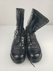 Corcoran 1500 Men's Size 13 D  Black Leather Jump Boots USA Made PUNK STEAMPUNK