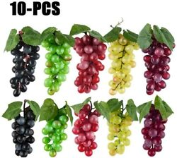 10 Bunches Artificial Grapes Simulation Decorative Lifelike Rubber Fake Clusters